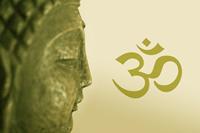 Buddha mit OM Zeichen